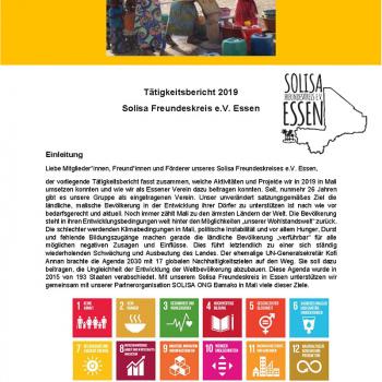 Tätigkeitsbericht 2019 - Solisa Freundeskreis e.V. Essen